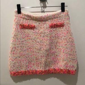 Zara pink confetti skirt
